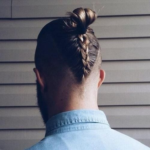 long braided undercut Hipster hairstyle for men