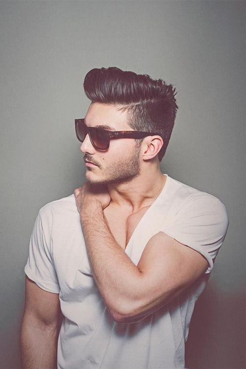 mens short hair undercut hairstyle
