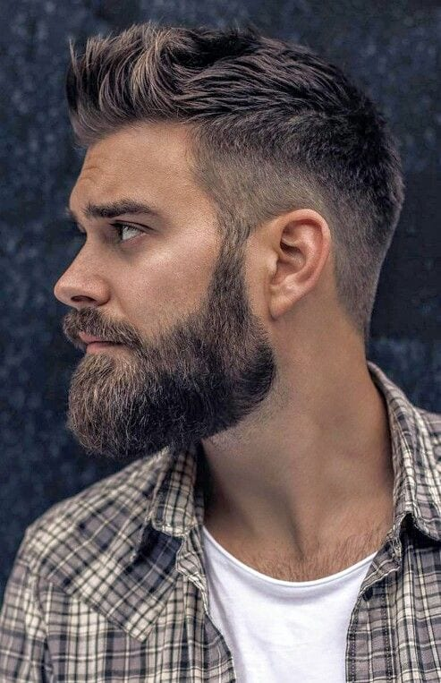 undercut with full beard