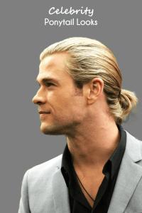 Celebrity Hairstyles men - Ponytail hairstyles