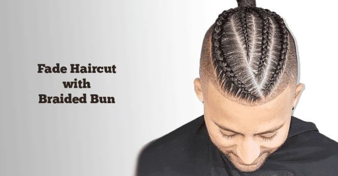 Fade Haircut with Braided Bun