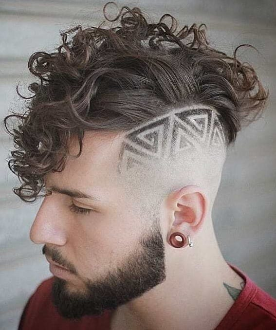 Curls And Fade Haircut Combinations For Men