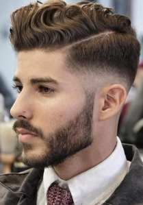 Curls And Fade Haircut Combinations