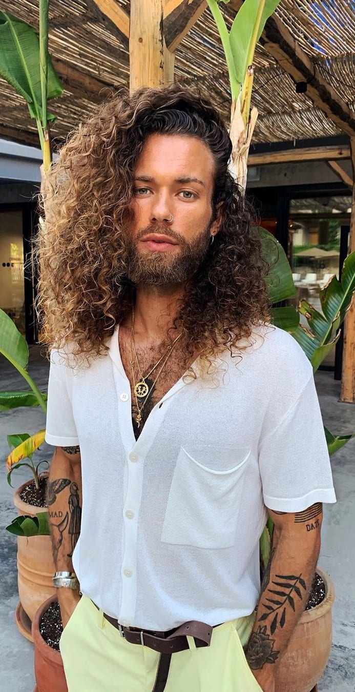 Curly, Wavy And Straight Hairstyle For Men.