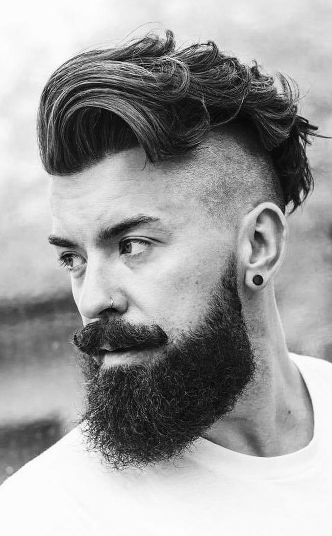 Fade Haircut, Beard & Moustache
