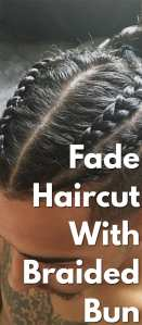 Fade-Haircut-with-Braided-Bun