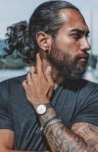 Long Hair Ponytail look for men