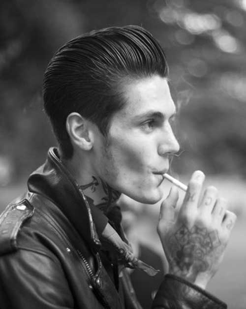 Rockabilly Slicked Back Men Hair