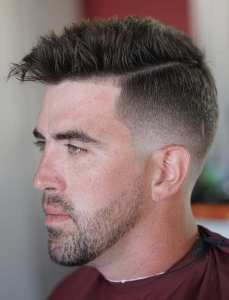 Side & Back Fade Hairstyle For Men