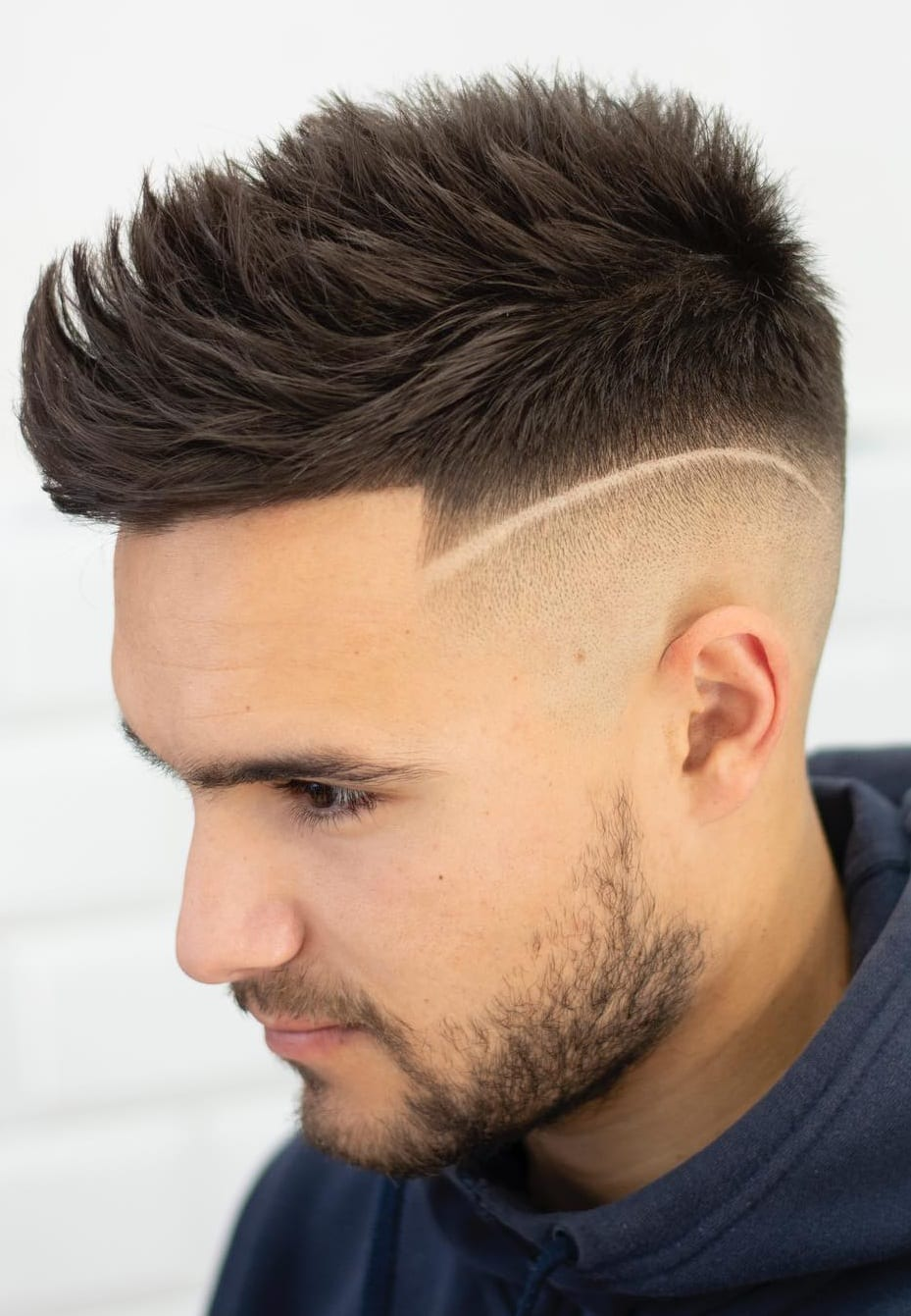 Spike Fade Haircut For Men