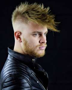 cool spiky mens haircut