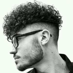 curls and fade haircut styles