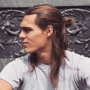 half ponytail for men