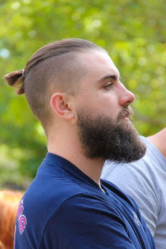 mohawk with ponytail casual look
