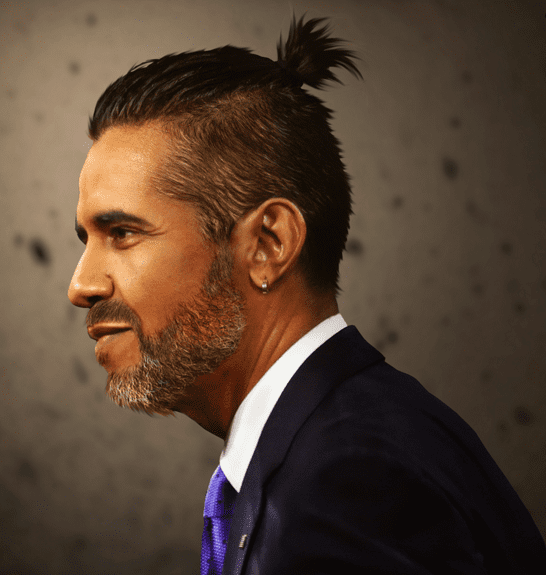 president barack obama with a ponytail