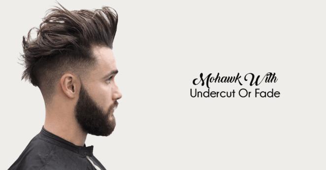 trendy mohawk with undercut haircuts