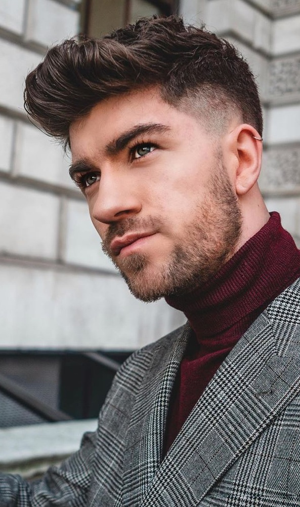 Cool Fade Hairstyle for Men