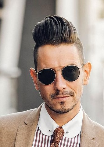 Cool Pompadour and Beard Combination for Men
