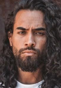 Long Curly Hair And Short Beard Combos
