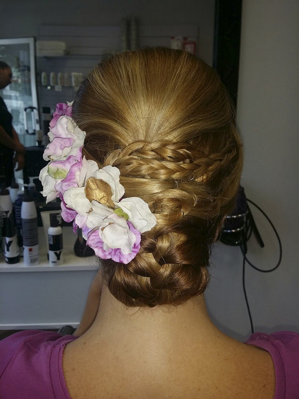 Updo-with-Decorative-Flowers