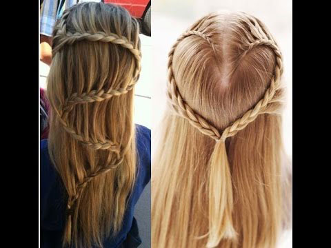 Waterfall Braid Hairstyle and Heart Shaped Braid