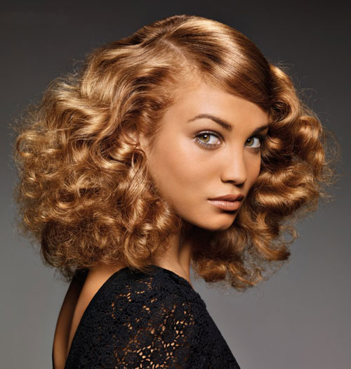 Curly Honey Colored Hairstyle
