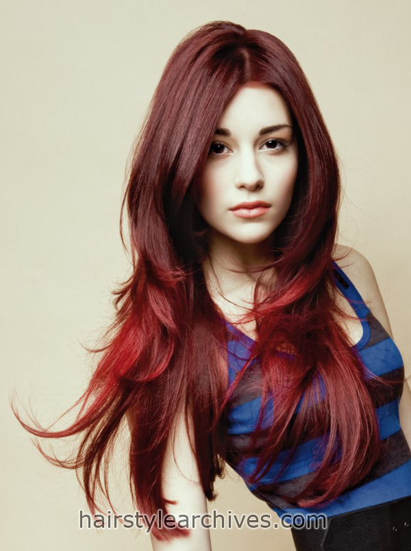 Long Red Hairstyle