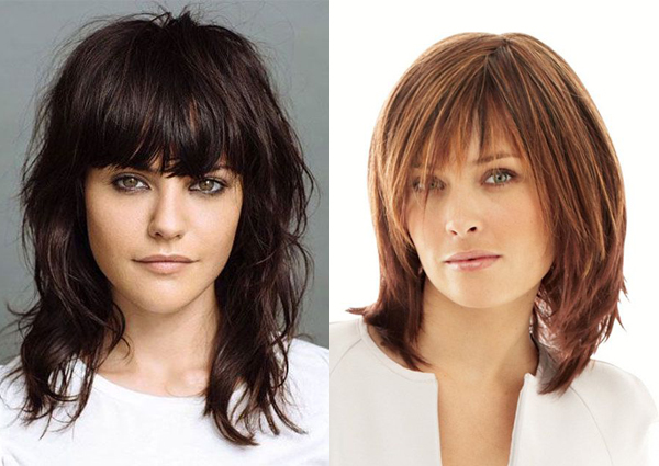 medium haircuts with bangs