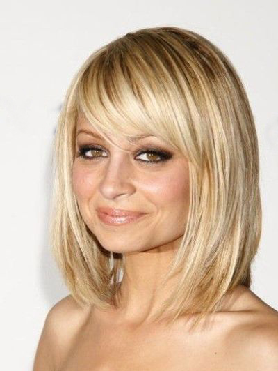 Side,Swept Bangs on Layered Bob for Round and Long Faces
