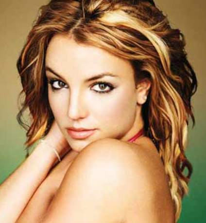 Britney With Trendy Hairstyle