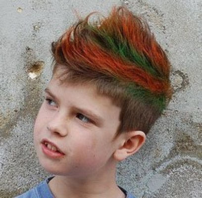 colorful kids hairstyle