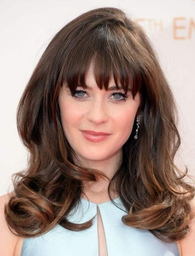 Image Result For Round Face Long Hairstyles With Bangs