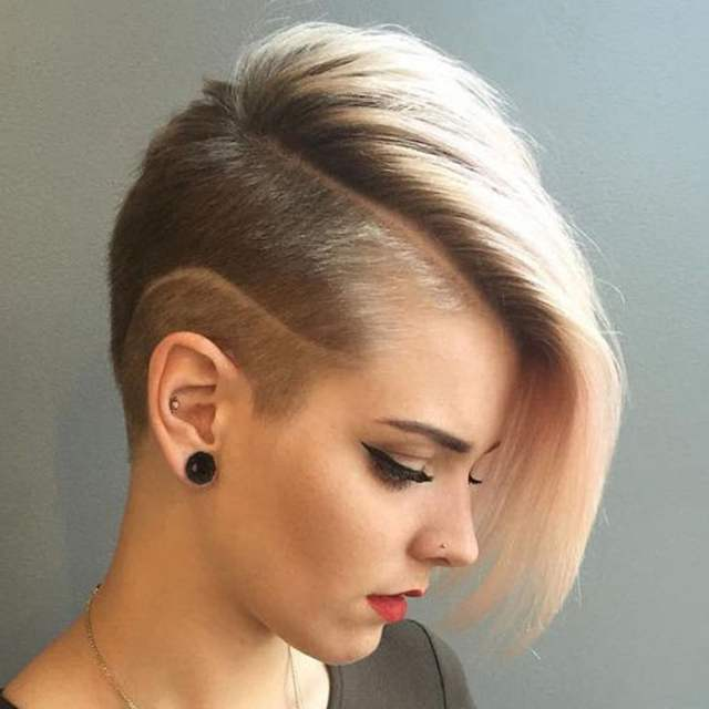 2019 Undercut Short Bob  Hairstyles  and Haircuts  for Women