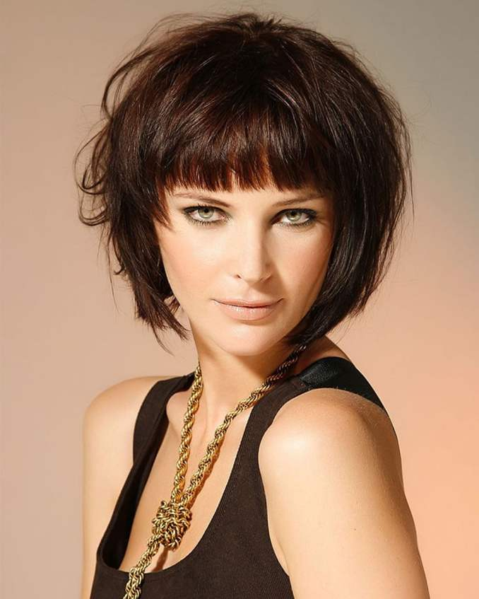 Image Result For Short Layered Bobs With Bangs