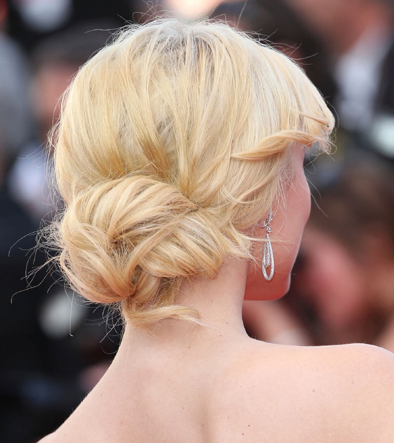 Celebrity Updos 2015 The Low Messy Bun