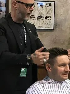 HairWeavon at Barber connect show in Birmingham