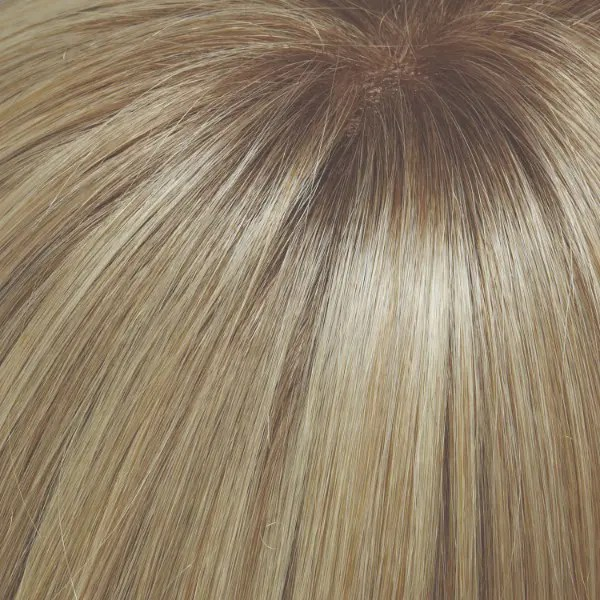 24B613S12 SHADED BUTTER POPCORN | Med Natural Ash Blonde & Pale Natural Gold Blonde Blend and Tipped, Shaded with light Gold Brown