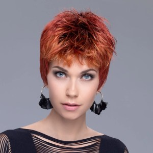 Snap Wig In FIRE BALL LIGHTED By Ellen Wille
