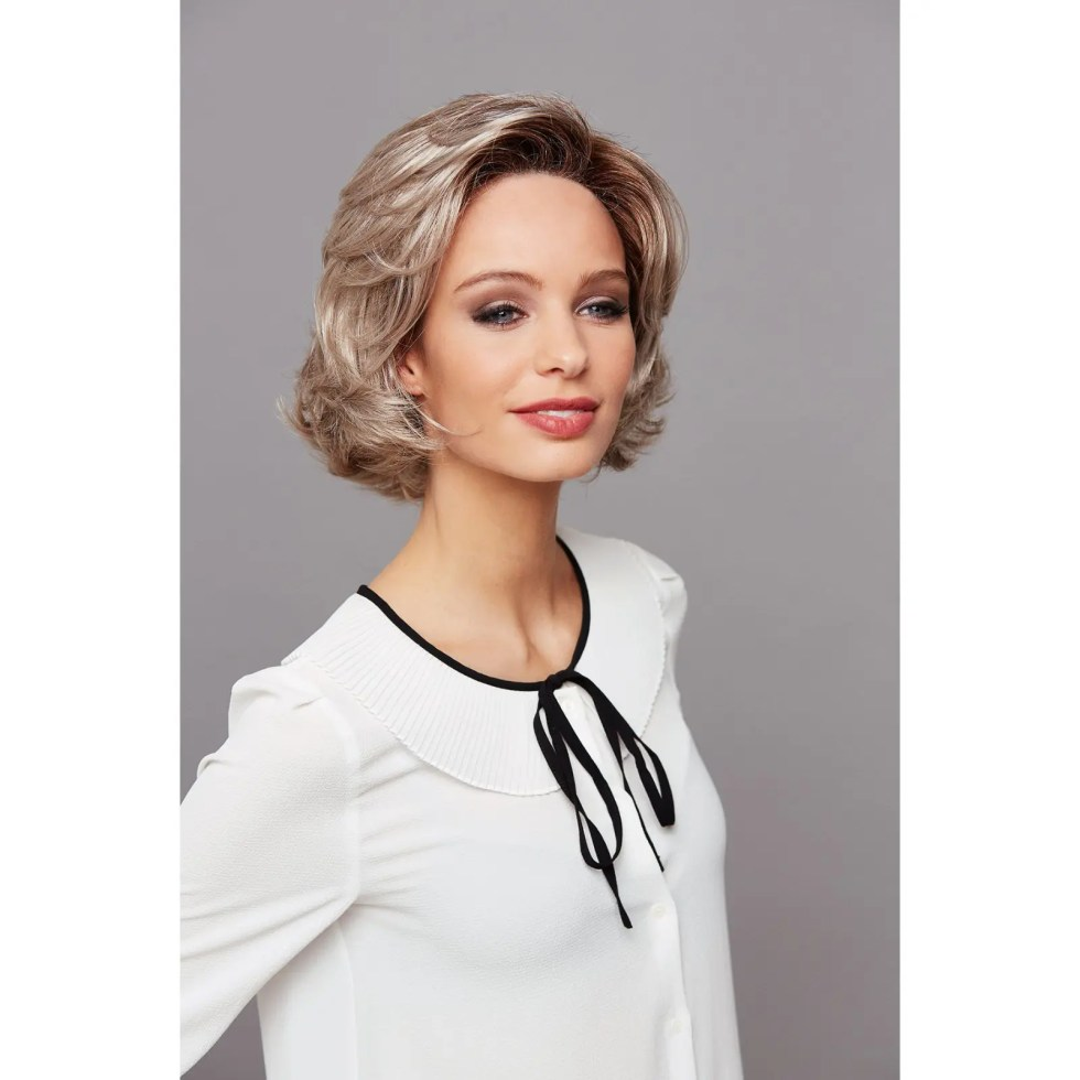 Tonia Mono Lace Long Wig in 101/20+12 | Smoky Grey