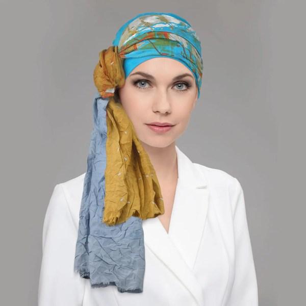Toga Headwear by Ellen Wille in Olive Sea Blue Multi