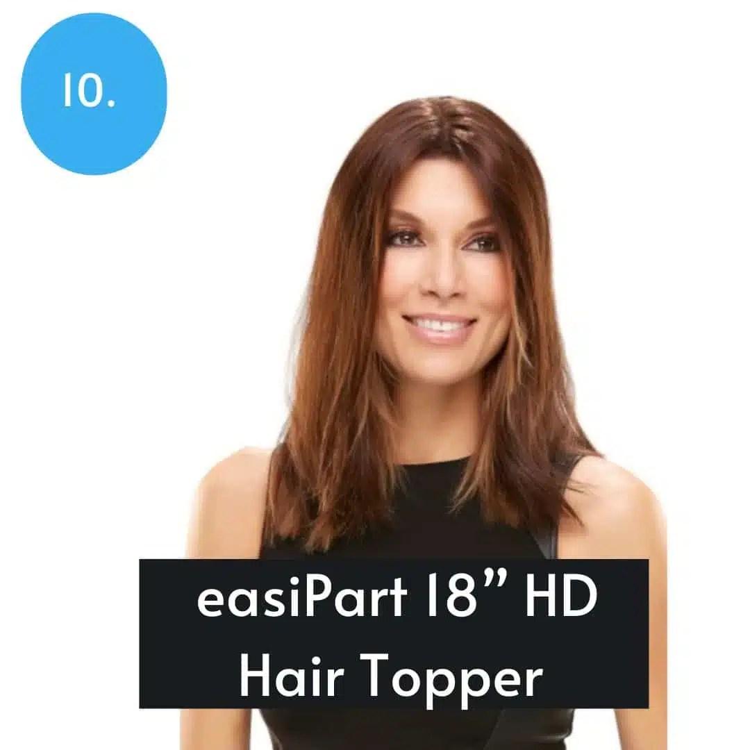 EasiPart 18inch Topper Human Hair