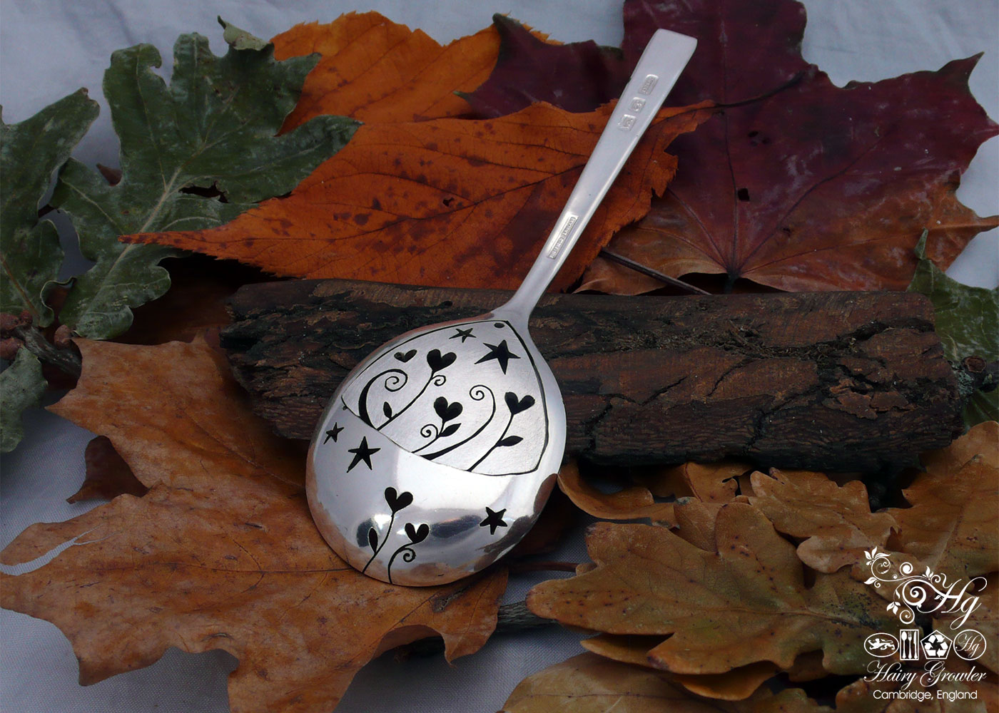handcrafted and upcycled vintage spoon love grows pendant