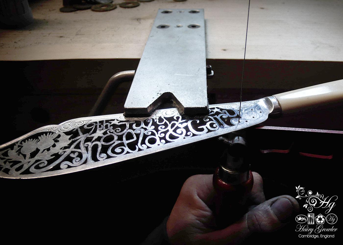 handcrafted and repurposed bespoke custom wedding-cake-knife