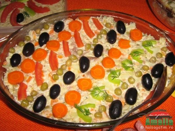 Ornare salata de boeuf, alta varianta