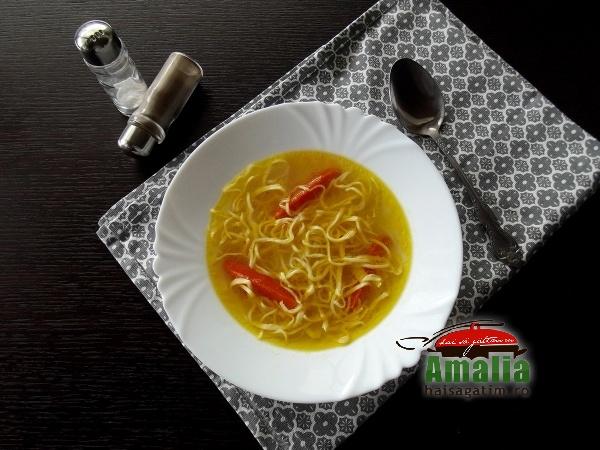 Supa de rata cu taitei de casa 6