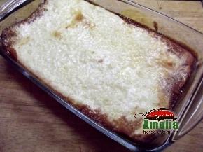 Budinca de orez cu mere caramelizate preparare 2