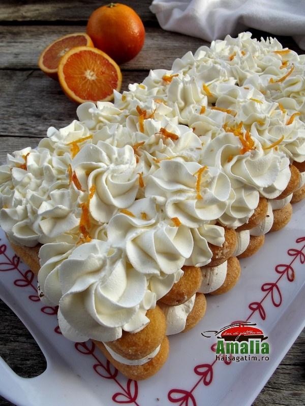 Tiramisu cu portocale si ricotta
