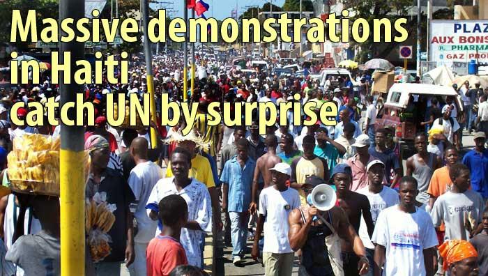 Massive demonstrations in seven Haitian cities