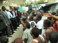 Haïti - Reconstruction : Le Président Martelly au gymnasium Vincent