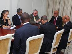 Haïti - Politique : Le Président Martelly en réunion de travail avec le Club de Madrid
